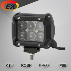 Hot Sell High Quality 3W Dual Row 4D Lens 4inch 18watt LED Light Bar for Offroad
