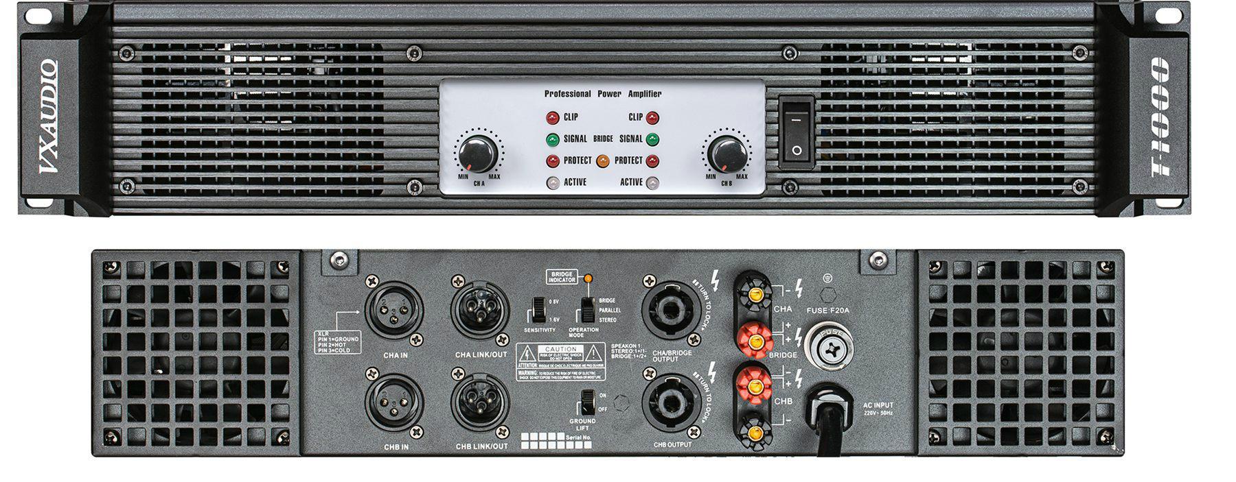 High Power Output Of Professional Amplifier T 800 Vx 4
