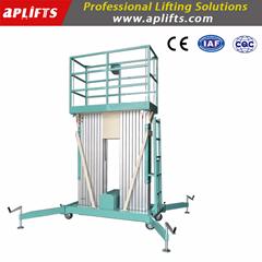 200kgs 6m 7m 8m 9m 10m 11m Dual Mast Mobile Aluminium Work Platform