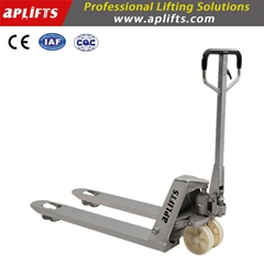 Aplifts Galvanized Pallet Truck with Silver Color Hot Sale