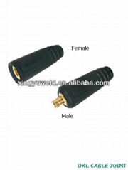 DKJ series euro type welding Cable Connector