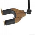 Auto Lock Net Wall Hanger Type Wooden Guitar Hanger 4