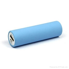 2200mAh 2600mAh Circle Power Bank Mobile Charger For Promotions