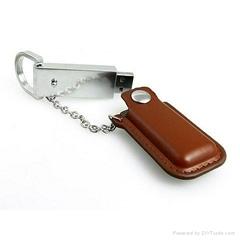PU leather USB memory stick usb pen drive wholesale free logo flash drive memory