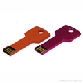 Metal Key Shaped USB 2.0 Flash Drive Optional Colours 1