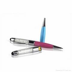 Novelty Pen Shaped Crystal USB Pen Drive