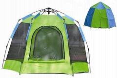 自動雙層野營帳篷--T057