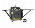 Corner crimping machine for aluminum