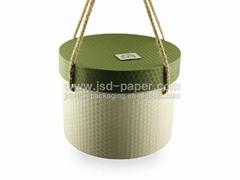 Flower use round cylinder gift box