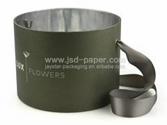Embossing custom logo flower box wholesale