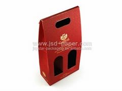 2 pieces wine corrugated wine box