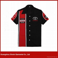Custom embroidery 100% cotton pit crew F1 racing shirts for men(S56)