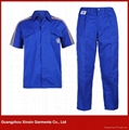 custom work uniform blue cotton coverall for men(W11) 1