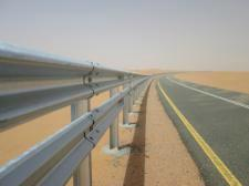 highway guardrail hot dip galvanized road crash barrier A profile