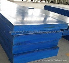 Wear resistant uhmwpe sheet for ice skating rink