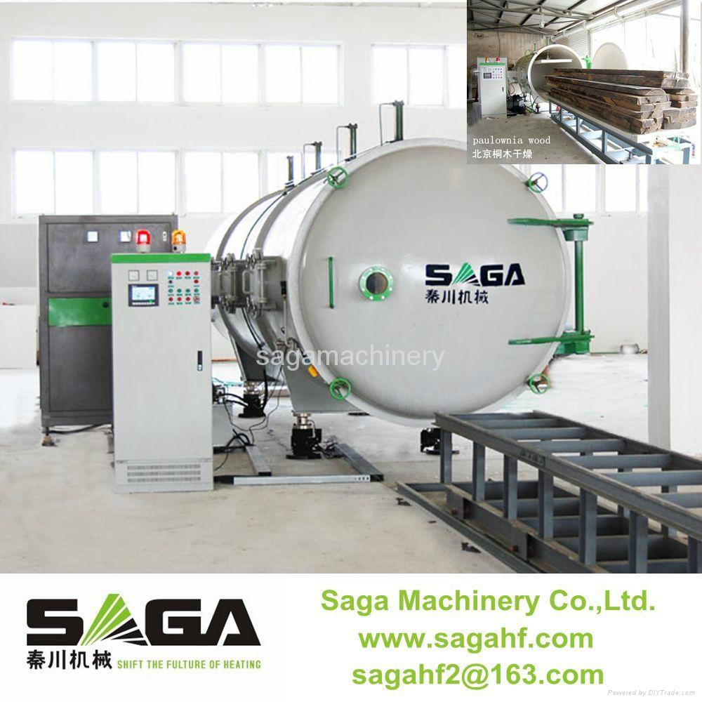 HF and vacuum timber dryer kiln machine