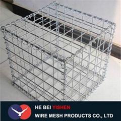Low price hot Ga  anized gabion mesh gabion box