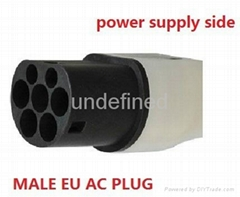 62196-2 European standard plug 16A/32A without  cable for power supply side