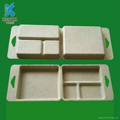 Bagasse pulp packaging tray ,box for battery