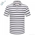 Wholesale Casual Business Man Polo Shirt Stripe Polo Shirt 1