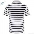 Wholesale Casual Business Man Polo Shirt Stripe Polo Shirt 2