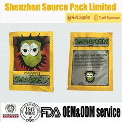 Small Custom Design Sealable Herbal Incense Bags Made in China