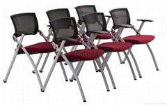 可折疊會議椅高檔鋁合金寫字板