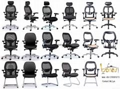宝纳斯Bonas厂家直销批发家用舒适学生电脑椅办公家具老板椅转椅