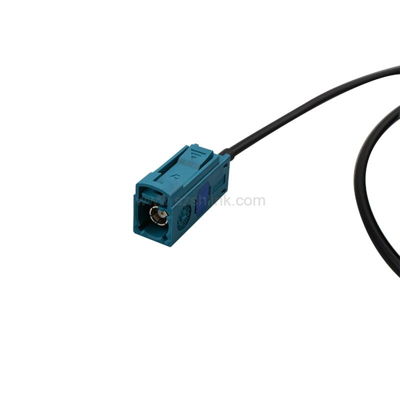 FAKRA Z code Female connector with RG174 RG316 Cable Assembly 2