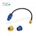 Vehicle Antenna Extension Pigtail SMA male to Fakra male Cable 1