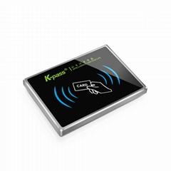 超薄型金屬梯控IC讀卡器凱帕斯