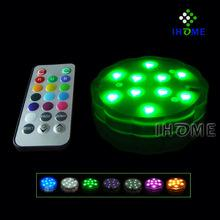 submersible led light with remote control for wedding decoration