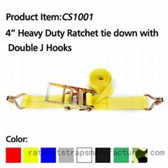 "CS1001 4"" 20000lbs heavy duty ratchet straps"