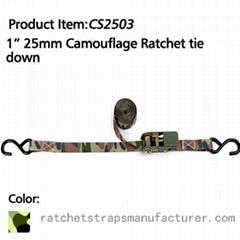 """CS2503 1"""" 25mm Camouflage Ratchet tie down"""