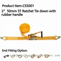 Cs3501 2 Quot Polyester Ratchet Tie Down With J Hooks And