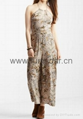 lady clothing dress garment folk costume summer wear  woven cotton silk clothes