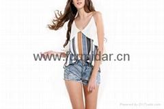 shengyu upper garment frock blazer blouses cymar  bare back midriff  factory kid