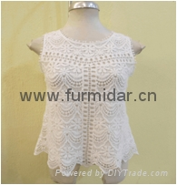 Furmidar factory lady women tops upper blouser lace chiffon embroidery wholesale