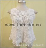 Furmidar factory lady women tops upper blouser lace chiffon embroidery wholesale