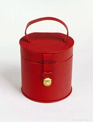 cylindrical leather jewe