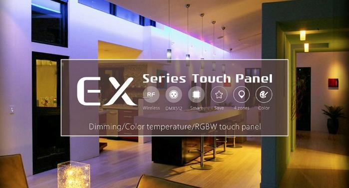 DMX512 RF Wireless WIFI distant control Remote control RGBW Touch Panel 3