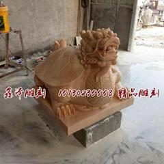 天然黑石龍頭龜雕刻