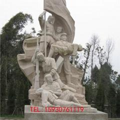 战士人物雕塑