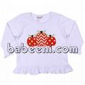 Lovely pumpkin t-shirt for little girls