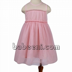 Pink party dress for baby girls - DR 2339