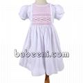 Sweet white girl smocked dress - DR 2309