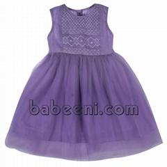 Nice geometric smocked dress for girls - DR 2317
