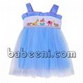 Nice blue tutu dress with cute smocked