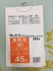 Auto folding garbage bags Japan market