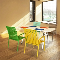 Dining Table and Chair Furniture Sale European-Style Set Garden Set Aluminum Out